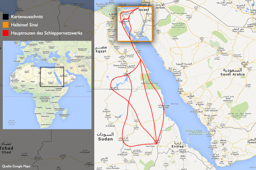 Karte_Sinai_Hauptrouten